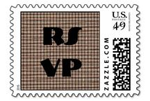 RSVP Stamps / Find a variety of RSVP postage stamps to include on your envelopes for your event. Great idea for when a response is requested.