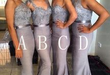 Grey bridesmaid dresses