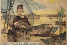 affiches de BRETAGNE / anciennes affiches touristiques et publicitaires