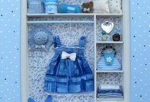 armadio bambina azzurro