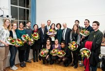 Remise des Prix d'Excellence Hans Wilsdorf / Jeudi 14 novembre 2013, Remise des Prix Hans Wilsdorf à 4 diplômés de la HEAD - Genève:  Jérémy Gaillard, Laura Couto Rosado, Lucile Burnier, Felipe Monroy    (© HEAD - Genève / Emily Bonnet)