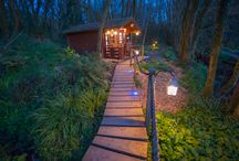 The Hot Tub / Our hot tub in the woods is a stunning location to spend an hour or two. With a sound system and star ceiling its magical!