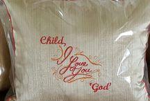 God loves you pillow