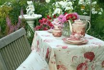 Tea with Blossom / A dream my daughter and I share...tea in a beautiful garden, all to ourselves.