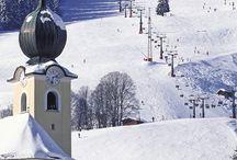 Skiën landschap / Skië landschappen