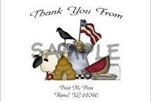 Primitive Thank You Cards / Primitive Country Customizable Thank You  Card Notes.