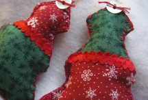 Fabric Christmas Ornaments / by Georgetown Weddings
