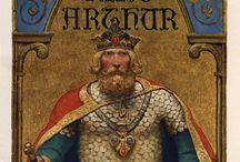 Arthur son of Uthar Pendragon, Myths, Mythology, Merlin and the menageries ... / Arthur the King