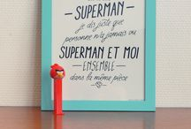 Affiches, stickers, phrases sympas
