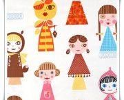 Telas Infantiles / Preciosas telas estampadas de algodón con diseños infantiles