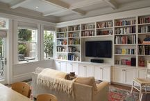 Bookshelf lounge...