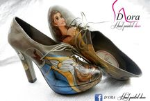 Beauty&Beast III  / https://www.facebook.com/pages/DORA-Hand-Painted-Shoes/144006675801939 #handpainted #hand #painted #shoes #scarpe #dipinteamano #dipinte #art #fashion #high #heels #plateaux