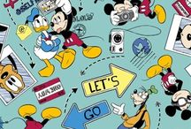 Mickey and Minnie / Disney Mickey and Minnie Mouse Cotton Fabric Ideas.
