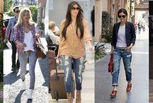 Cropped jeans - Tendințe Toamnă/Iarnă 2012/2013 / Cele mai noi tendințe pentru Toamnă Iarna 2012/2013 pentru jeansi si denim! Descopera-le aici! Designerii s-au jucat cu lungimile, jeanșii regăsiți în colecțiile de podium  oprindu-se la jumătatea gambei, cât și în cele cu manșetele întoarse. Acest tip de jeans cropped, alungește optic silueta, însa condiția principală este să fie purtat cu pantofi cu tocuri înalte.