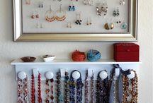 organizing jewellery etc