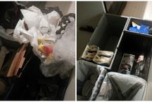 Tavallisia koteja - Ordinary homes / Kuvia ennen ja jälkeen ammattijärjestäjän vierailun. Photos before and after the visit of professional organiser.