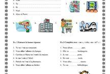 activités  les verbes