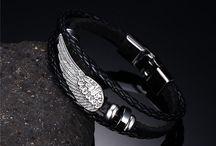 Trendy Armband Echtes Leder  Feder Optik Neu  11,90 Euro