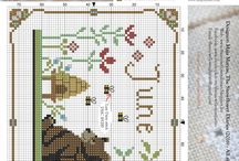 calendar cross stitch