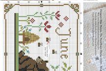 calendar cross stitch