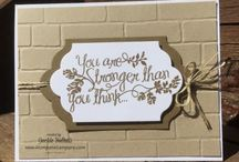 Stampin Up - Brick Wall Embossing Folder