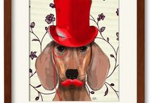 Gifts for Doglovers / #dogs #gifts what do you buy someone who really loves his dog? Look no further!  gifts present home decor dachshund breed unique