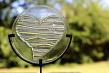 Cremains : Hold You Close by Prairie Glass Studio / Hold You Close is a line from Prairie Glass Studio that is for cremains, human and pet. We fused the cremains into beautiful fused glass art. A forever keepsake that can be on display or go anywhere with you.