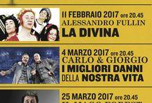 """DIVERTIAMOCI A TEATRO #TSVeneto / Spazio al divertimento per una nuova rassegna che porta al Teatro Verdi di Padova, con garbo ed allegria, tre modi diversi di intendere """"l'arte di far ridere"""". Si comincia con Alessandro Fullin in La Divina, poi è la volta di Carlo & Giorgio con """"I migliori danni della nostra vita"""", chiude il terzetto il Mago Forest in  """"Motel Forest"""". Tre serate da non perdere, che insieme vanno a comporre un viaggio bizzarro e spensierato nella più variegata comicità made in Italy."""