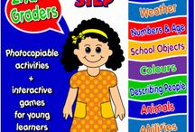 #ENGLISH STEP BY STEP - 2ND GRADERS / This pack has been created for second graders.  It contains six units covering the following themes:  greetings and names, weather, classroom objects and colours, numbers and age, animals and verb can (pets, farm animals and wild animals), house, furniture and place prepositions. http://www.teachenglishstepbystep.com/step-by-step---2nd-graders.html