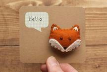 Foxes, handmade / My love