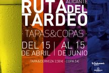 """I EDICIÓN """"RUTA DE TARDEO: DE TAPAS Y COPAS"""" / Ruta del 15 de abril al 15 de junio 2015, Tapa y la cerveza 2,5 € o copa - cóctel especial para el evento a un precio de 5 € , en la que participan 52 establecimientos."""