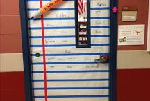 Year 1 class door displays