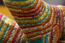 Crochet and knit socks and slippers