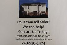 Do It Yourself Solar! / We can design the system, take care of the applications and contract with the utility company, supply the parts and for Michigan residence we will show up on site for technical assistance!  First to help layout and start mounting the flashings to the roof.  This will save you about 20% of the cost of us installing your system!  Contact us now and start saving!