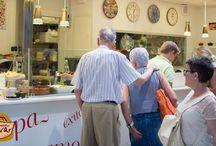 Nuestra oferta gastronómica en Mercat de l'Olivar / Nuestra oferta gastronómica, para comer en el Mercat de l'Olivar o para llevar a casa.