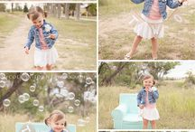 Two year old photoshoot outdoors