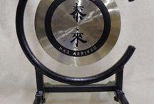 Gongs With Spiritual Symbols.