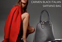 Carmen black dome shaped bag