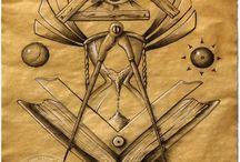 M. Motif 'Square & Compass' / M. Motif 'Square & Compass'.