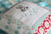 Pincushion Love / Pincushions, needle books and just about anything that holds sharp sewing objects!