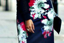 Blommiga kjolar