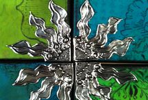 Mixed Media/Pewter Embossing Ideas / Pewter Embossing incorporating other media to make stunning art pieces