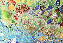 ISGR - Mosaic Art Panels / Ideas and inspiration or mosaic art panels. See description with each photo for additional notes and tips.