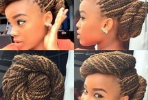 Black African and American braids / causal braids to do in your hair