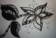Doodle art ,flores