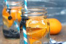 sirop et eau de fruits