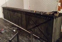 Барная стойка на заказ. / Проектируем и производим мебель на заказ. Барные стойки в стиле лофт. Купить и заказать в Москве барную стойку в стиле лофт 89266148490.