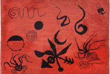 """""""Araignée"""", tapis de Calder à la Galerie Michelle Champetier."""