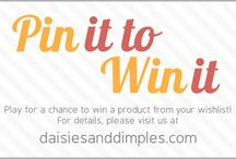 Pin it to Win it at Daisies & Dimples / Daisies & Dimples Pin it to Win it