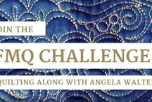 Free-motion Challenge Quilting Along with Angela Walters / It's almost like having a private machine quilting class with Angela Walters. Quilt along with me as we work machine quilt a quilt on a home sewing machine. It's absolutely free and there are NO required products!